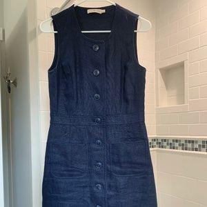 Tory Burch Light Weight Denim Sz 2 Dress w/Pockets
